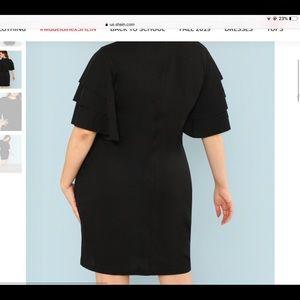 Black Flare Sleeve Cocktail Dress BN